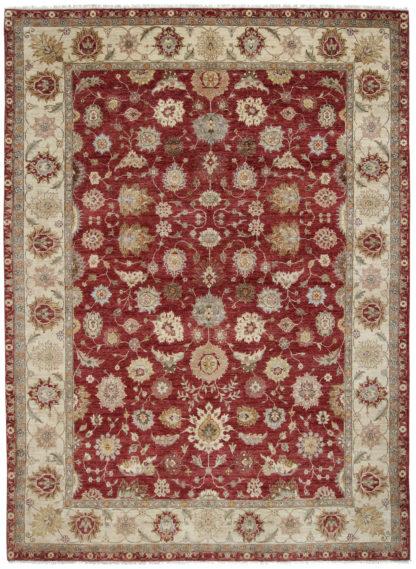 Pakistani Chobi 9x12 Burgundy Wool Area Rug