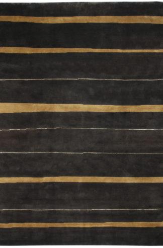 Indian Gabbeh 9x12 Brown Wool Area Rug
