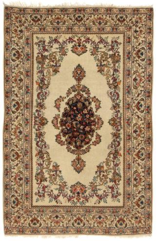 Extra Fine Persian Nain c1940 4x7 Ivory Area Rug