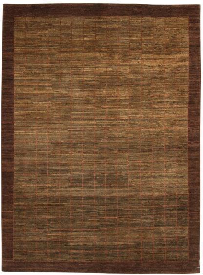 Afghan Gabbeh Design 5x8 Brown Wool Area Rug