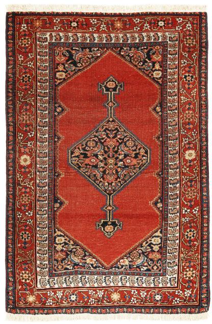 Antique Persian Bakshaish 5x8 Wool Area Rug