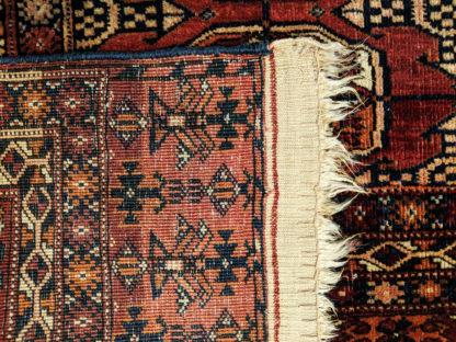 Turkmen Bohkara 5x8 Red Brown Wool Area Rug