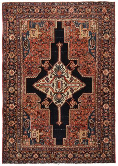 Antique Persian Senneh 4x6 Wool Area Rug