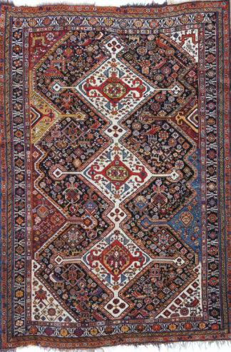 Antique Persian Qashqai 5x7 Wool Area Rug