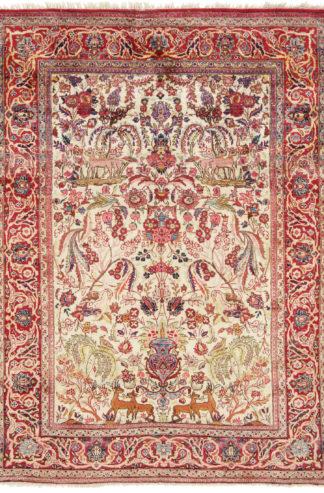 Antique Silk Persian Kashan 3x5 Area Rug