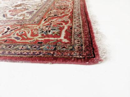 Antique Silk Persian Kashan 3x5 Rose Area Rug