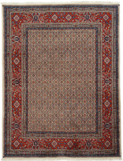 Fine Persian Mood 5x6 Blue Red Wool Area Rug