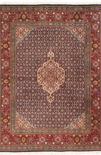 Persian Mood 5x6 Blue Red Wool Area Rug