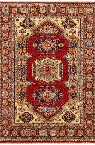 Hand Knotted Kazak Design 5x7 Red Area Rug
