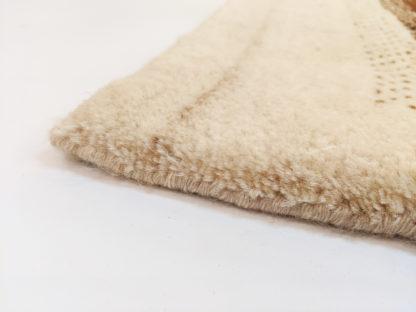 Gabbeh Design 4x6 Ivory Brown Wool Area Rug