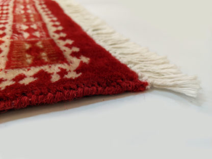 Pakistani Bokhara Design 5x8 Red Wool Area Rug