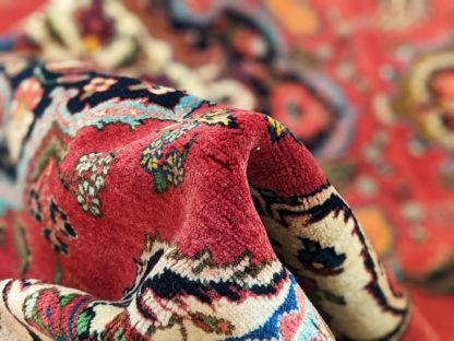 Persian Tabriz 4x6 Red Wool Area Rug