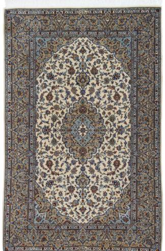 Fine Persian Shad Sar Kashan 5x8 Blue Area Rug