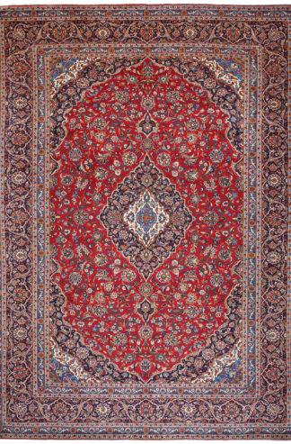 Persian Kashan 10x14 Red Wool Area Rug