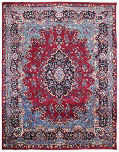 Persian Mashad 10x13 Red Wool Area Rug