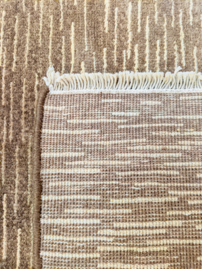 Modern Design 3x5 Brown Wool Area Rug