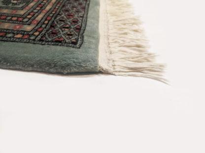 Pakistani Bokhara 9x12 Sage Green Wool Area Rug