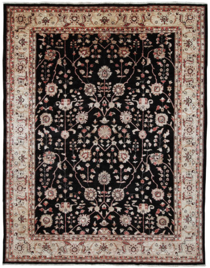 Hand Knotted 9x12 Rose Brown Wool Area Rug