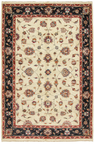 Hand Knotted Chobi 6x9 Navy Red Wool Area Rug