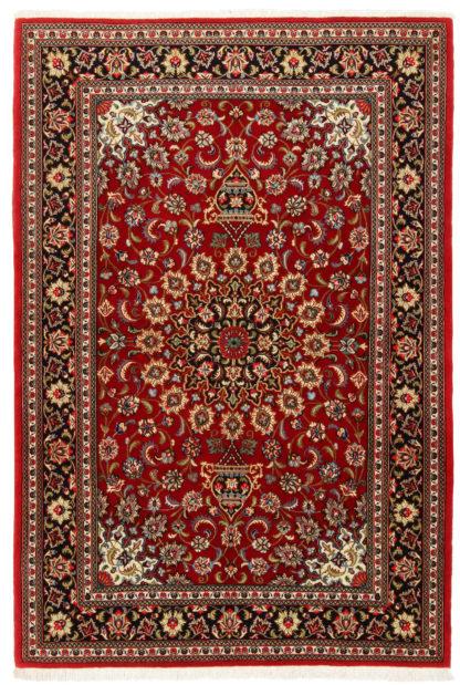 Fine Persian Qum 4x6 Red Wool Area Rug