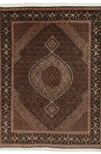 Persian Tabriz Mahi 5x6 Brown Wool Area Rug