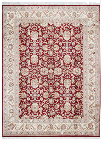 Fine Pakistani Hand Knotted 9x12 Red Wool Area Rug