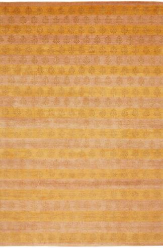 Hand Knotted Tibetan 8'x10' Wool & Silk Area Rug