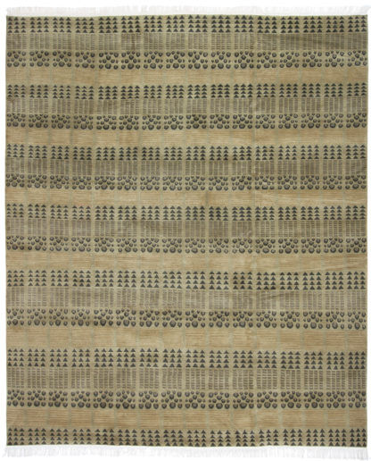 Contemporary 8x10 Moss Wool Area Rug