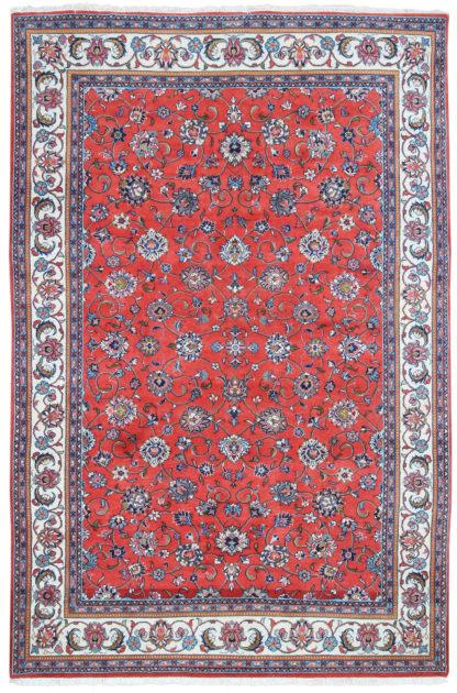Persian Tabriz 6x9 Red Wool Area Rug