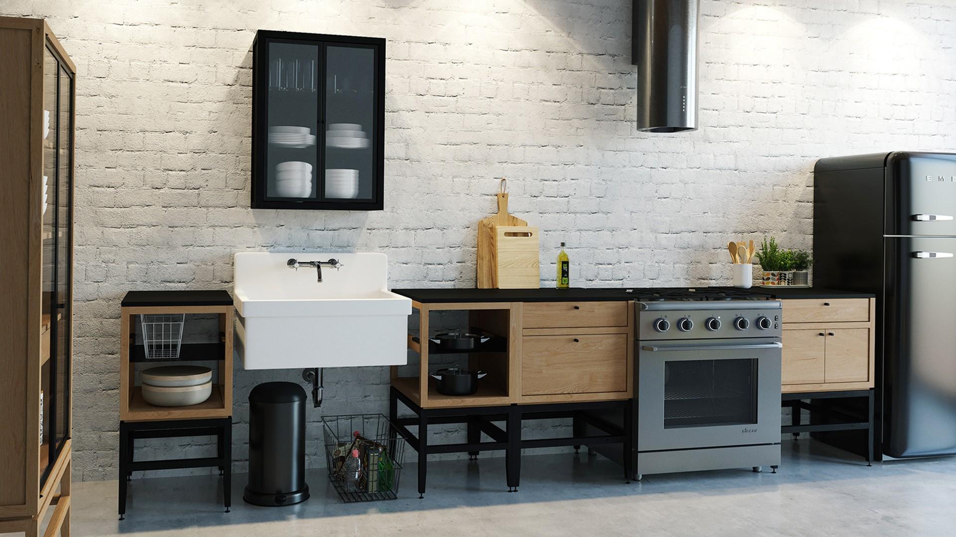Radix Wall Kitchen Cabinet 2 Glass Doors 24 In White Oak Brnz Coquo