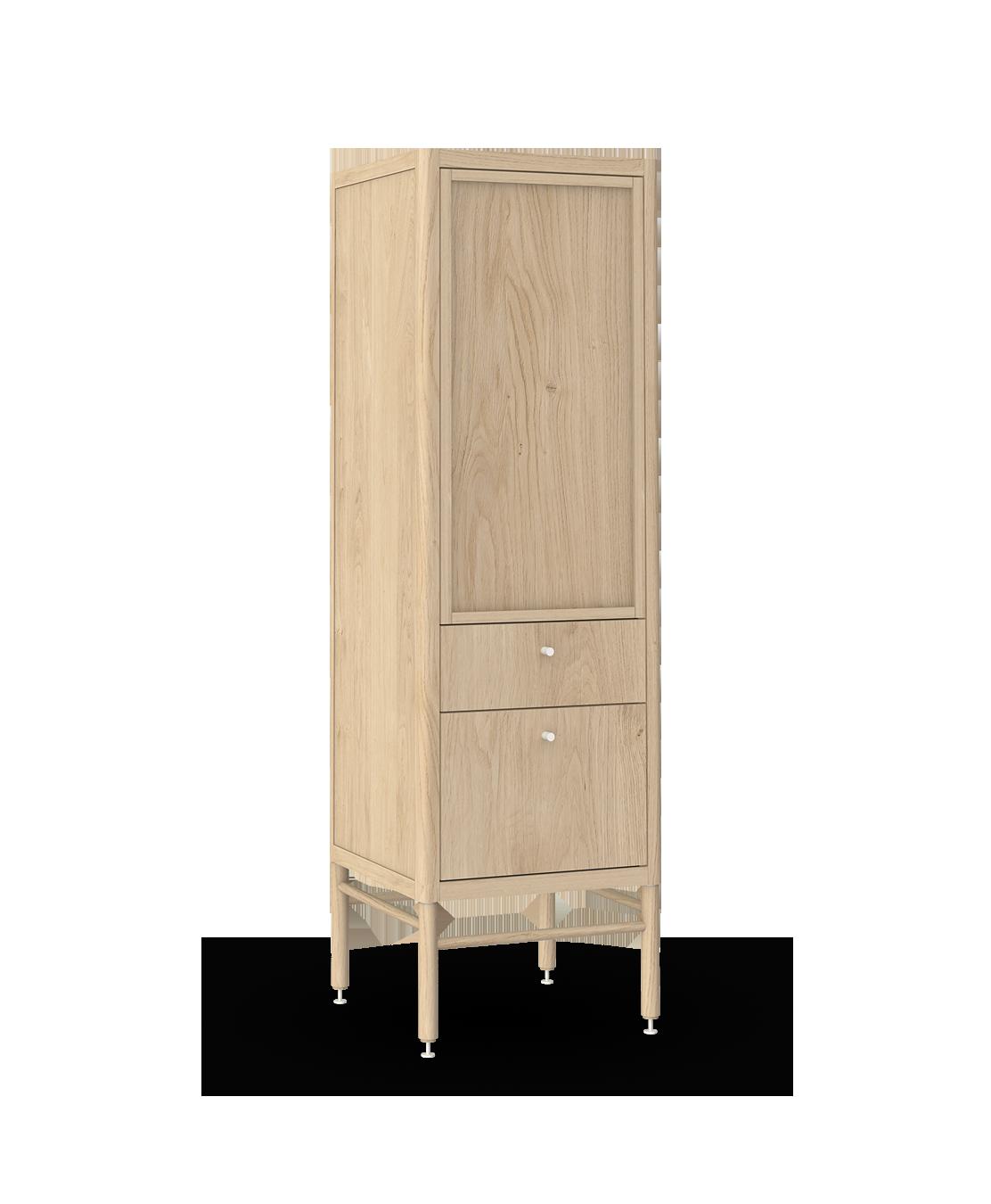 armoire chiffonnier modulaire de rangement en bois massif coquo statio chêne blanc 18 pouces C4-D-1818-2103-NA