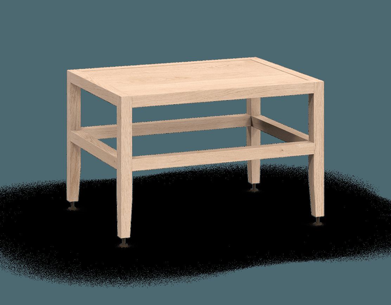 banquette ou table de salon modulaire en bois massif coquo volitare avec chêne blanc 24 pouces C2-B-2418-0001-NA