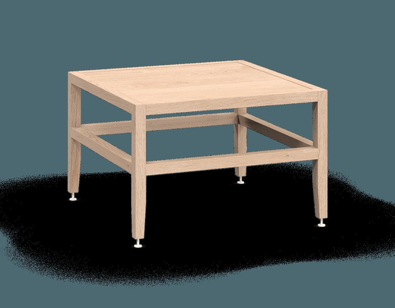 banquette ou table de salon modulaire en bois massif coquo volitare avec chêne blanc 24 pouces C2-B-2424-0003-NA