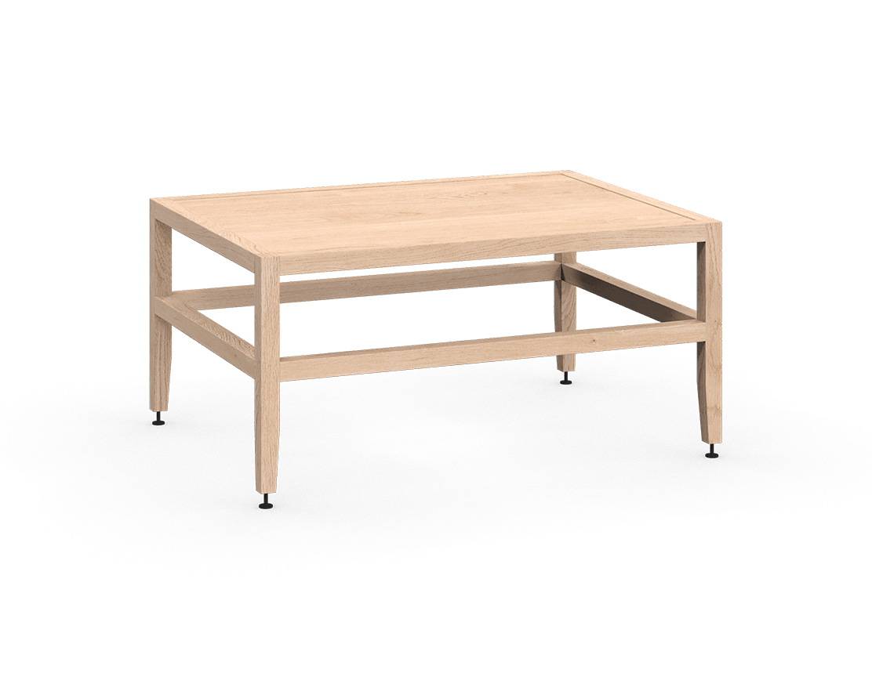 banquette ou table de salon modulaire en bois massif coquo volitare avec chêne blanc 33 pouces C2-B-3324-0002-NA