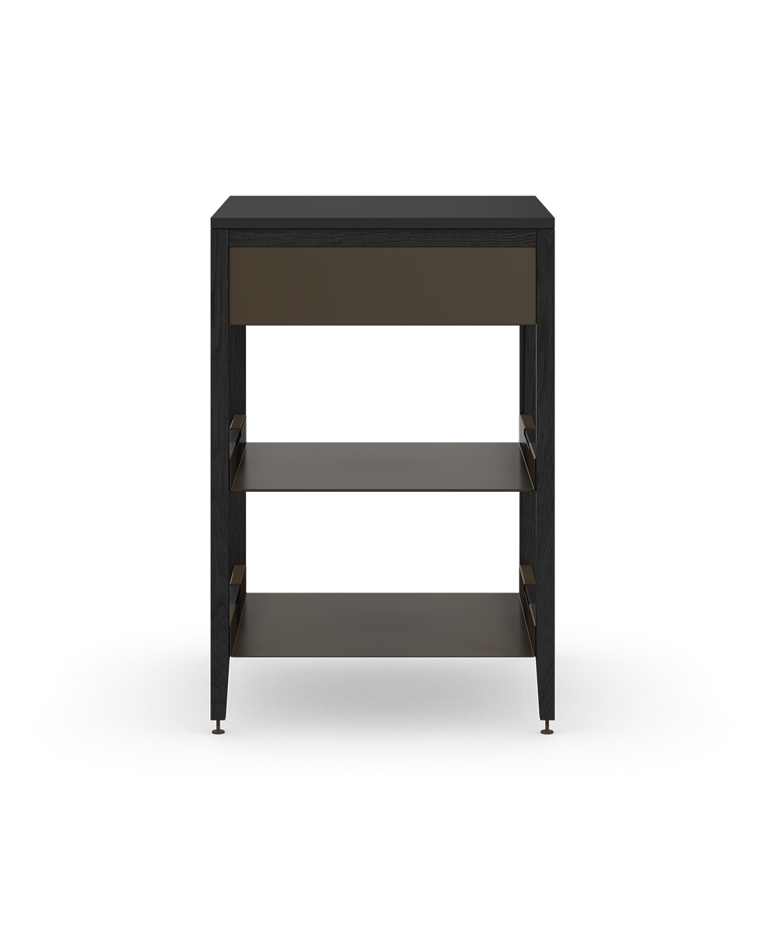 coquo radix midnight black stained oak solid wood modular 2 shelves false front base corner kitchen cabinet 24 inch C1-CC-24SB-0021-BK