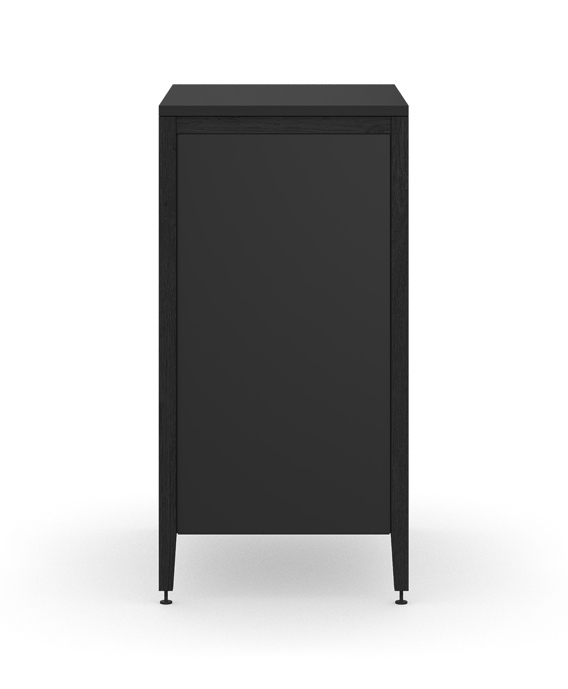 coquo radix midnight black stained oak solid wood modular 3 drawers base kitchen cabinet 18 inch C1-C-18TB-3002-BK