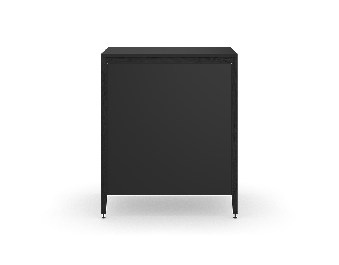 coquo radix midnight black stained oak solid wood modular 3 drawers base kitchen cabinet 33 inch C1-C-33TB-3002-BK