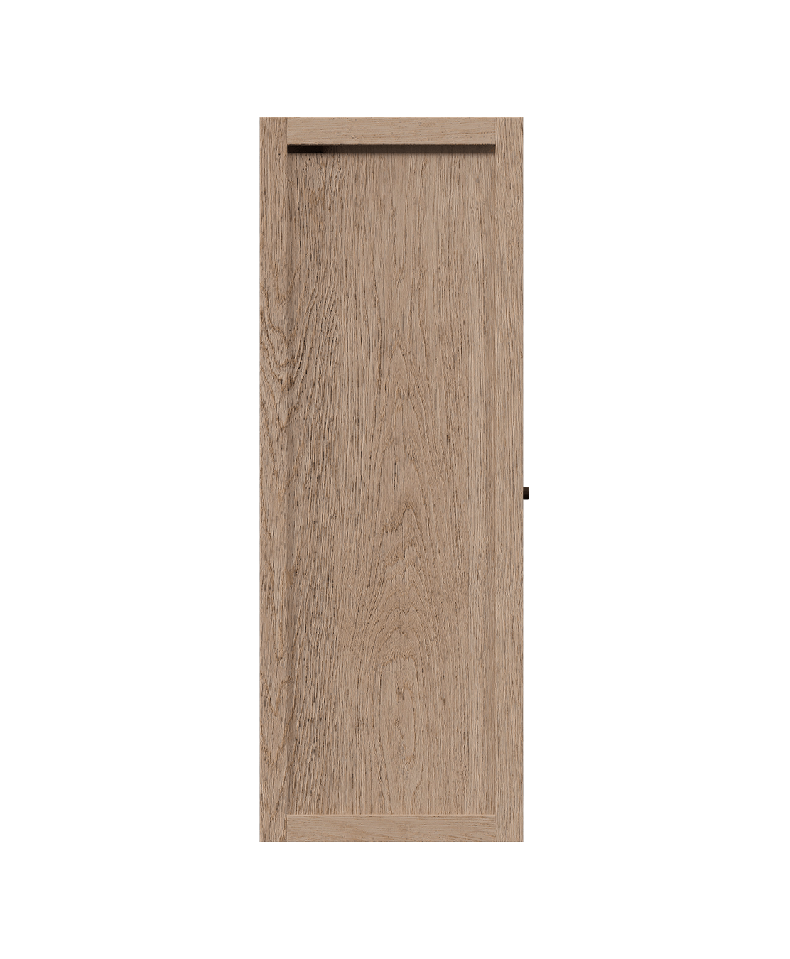 coquo radix white oak solid wood modular 2 glass doors wall upper kitchen cabinet 12 inch C1-W-2412-0201-NA