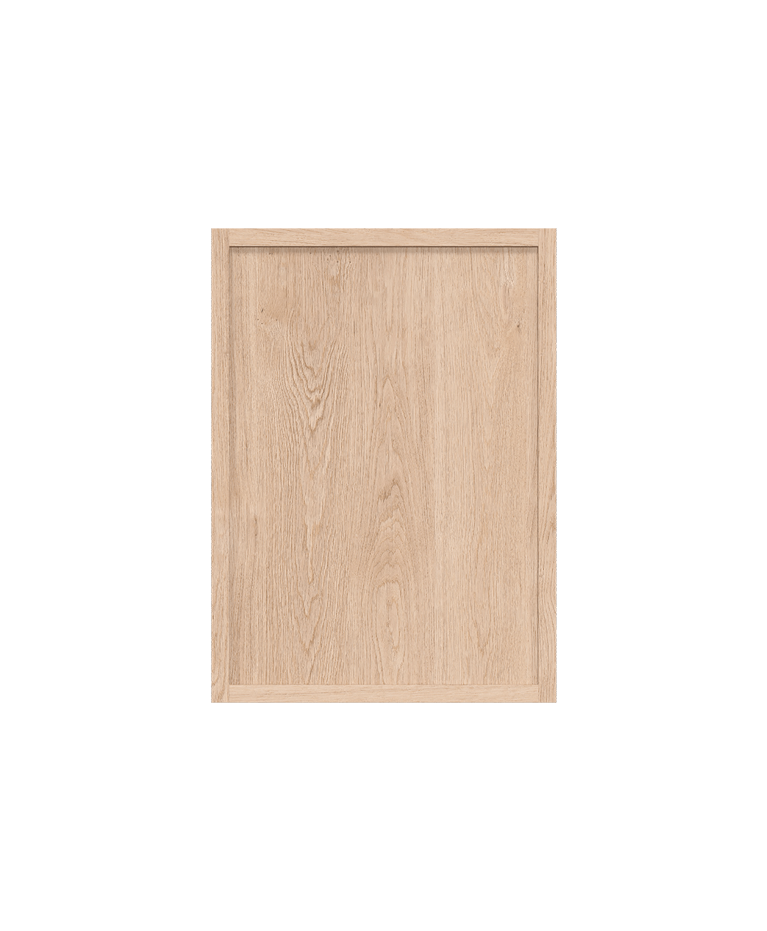 coquo radix white oak solid wood modular 2 glass doors wall upper kitchen cabinet 12 inch C1-W-2412-0202-NA