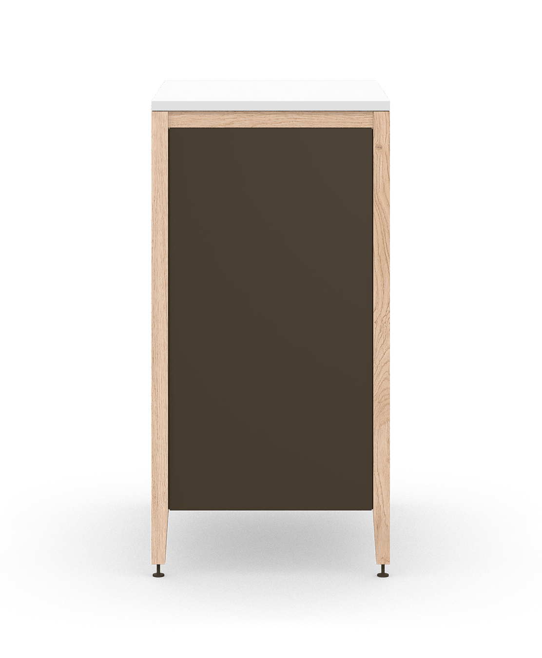 coquo radix white oak solid wood modular 2 shelves 1 drawer base kitchen cabinet 21 inch C1-C-21TB-1021-NA