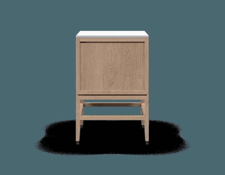 coquo volitare white oak solid wood modular 1 drawer 2 doors storage base cabinet 24 inch C2-C-2424-1201-NA