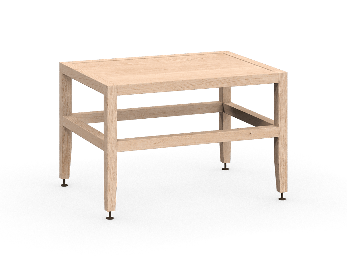 coquo volitare white oak solid wood modular bench or coffee table 24 inch C2-B-2418-0001-NA