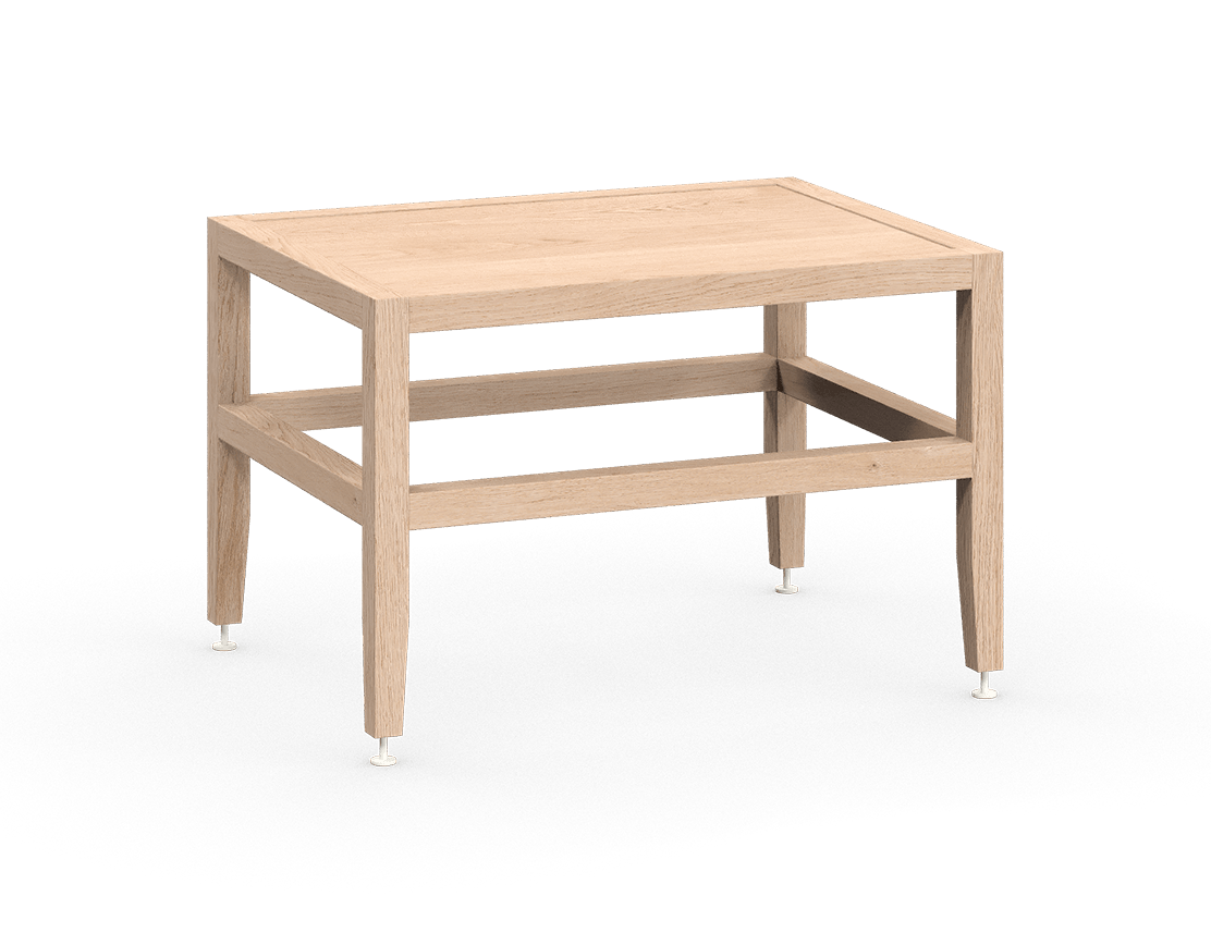 coquo volitare white oak solid wood modular bench or coffee table 24 inch C2-B-2418-0003-NA