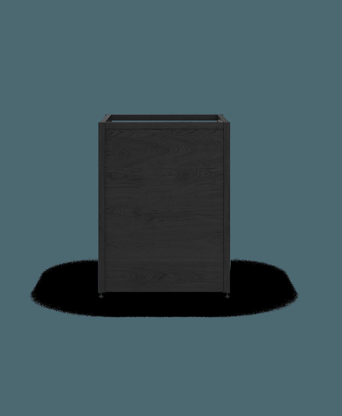 ensemble pour armoire de cuisine modulaire pour electromenagers encastrables en bois massif coquo radix chêne teint noir nuit profonde 26,5 pouces C1-A-24TB-0000-BK