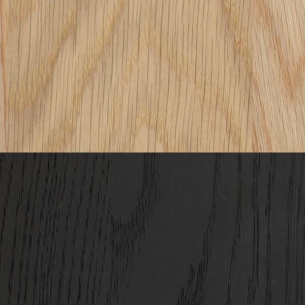 White oak + stained midnight black