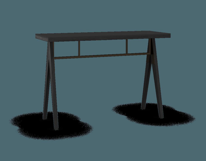 îlot de cuisine modulaire en bois massif coquo braccas avec comptoir fenix noir chêne teint noir nuit profonde 54 pouces C3-T-5420-0001-BK-FTB
