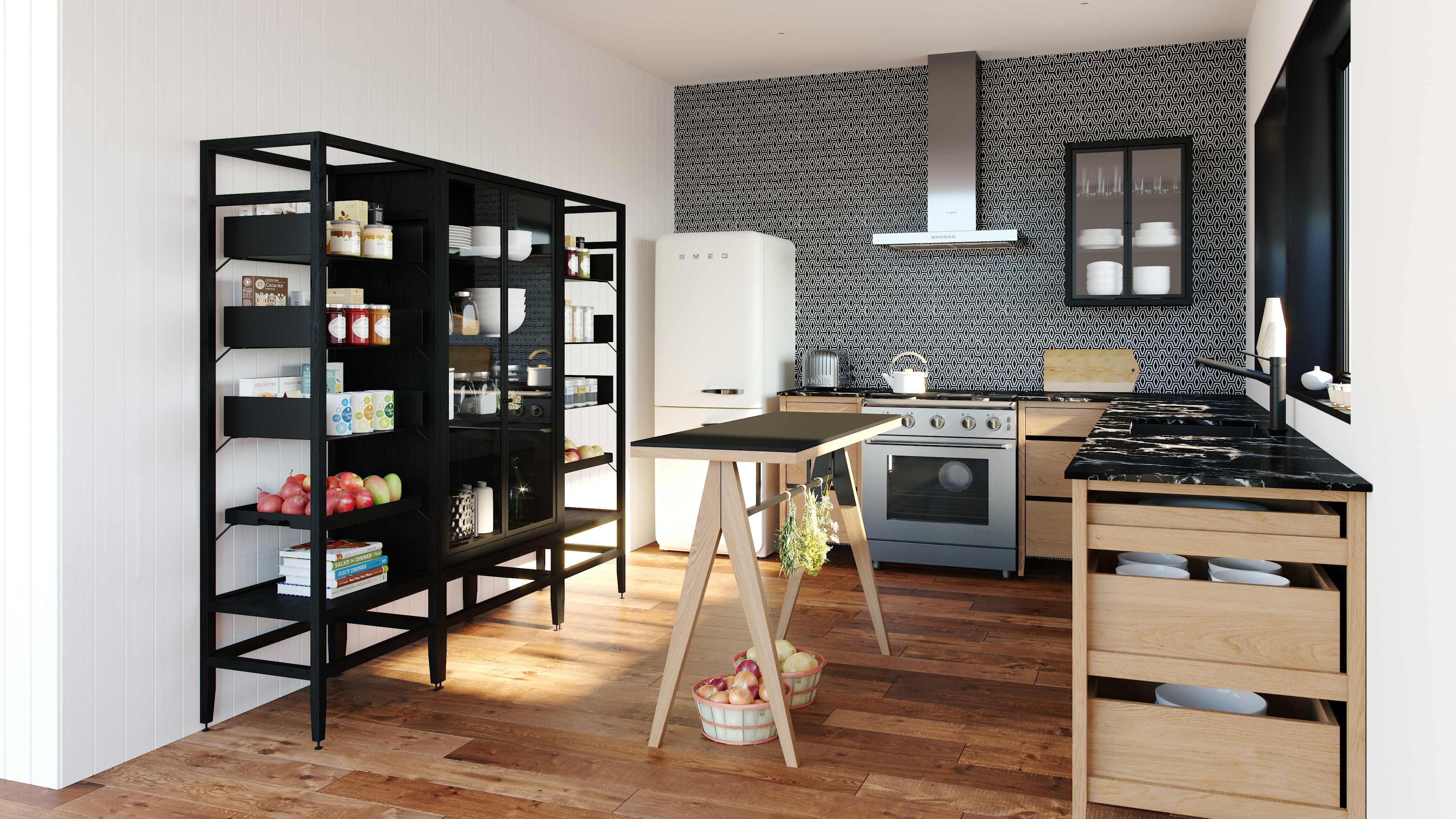 transformer une table de cuisine en ilot central. Black Bedroom Furniture Sets. Home Design Ideas