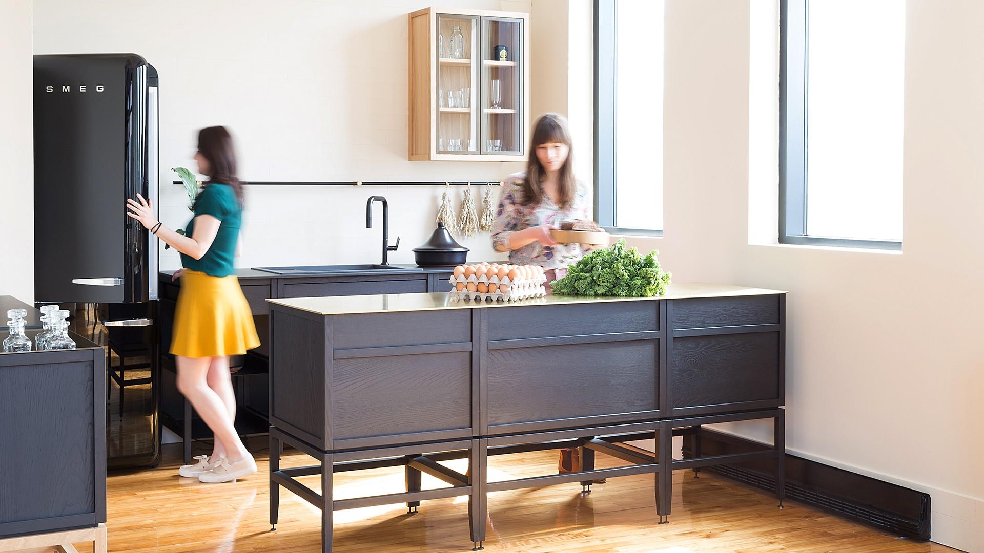 Radix Kitchen Lunch Counter Extension 24 In White Oak Bronze