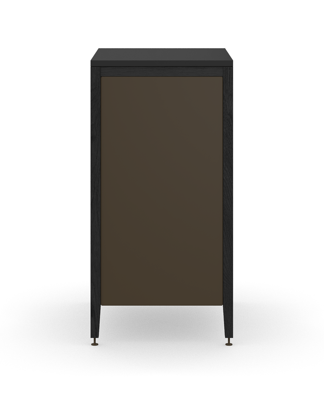 armoire de cuisine modulaire poubelle en bois massif coquo radix avec 1 tiroir 2 bacs chêne teint noir nuit profonde 18 pouces C1-CTR-18TB-2001-BK