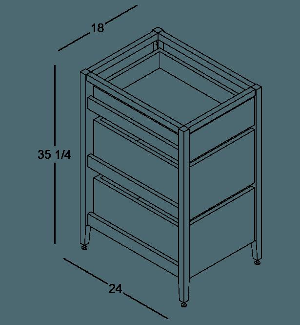 armoire de cuisine modulaire poubelle en bois massif coquo radix avec 1 tiroir 2 bacs chêne teint noir nuit profonde 18 pouces C1-CTR-18TB-2002-BK
